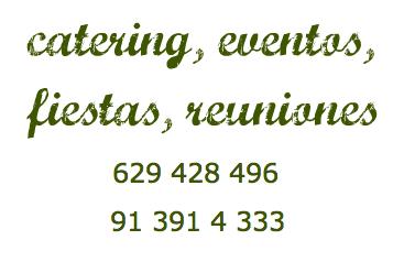 Las Delicias de Vero, catering, eventos, reuniones, fiestas, celebraciones