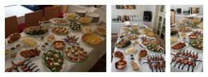 collage comida junco y piña